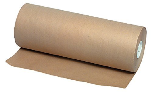 School Smart Kraft Wrapping Paper Roll, 40 lbs, 48 Inches x 1000 Feet, Brown (Pack of 2)