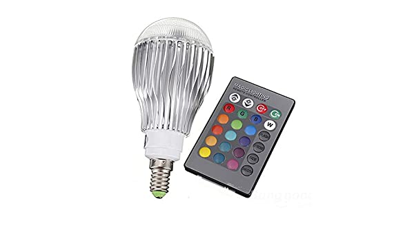 Amazon.com: DingXW RGB LED Lamp 10W 85-265V E14 LED RGB Bulb Light Led Soptlight Remote Control 16 Colors Changeable Lamparas (Weight : 10W): Sports & ...