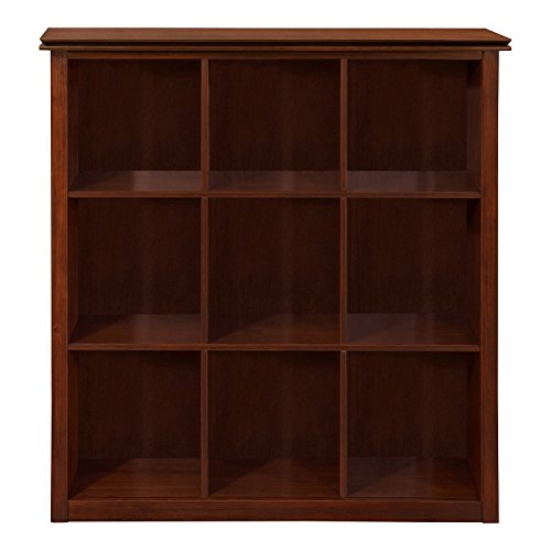 (WYNDENHALL Stratford Auburn Brown 9 Cube Solid Wood Bookcase & Storage Unit)