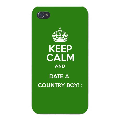 Hat Shark Apple iPhone Custom Case 5 5s and SE Snap on - Keep Calm and Date a Country Boy!