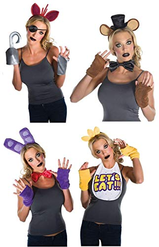 Five Nights at Freddy's Adult Costume Kit Bundle: Freddy, Foxy, Chica, Bonnie -