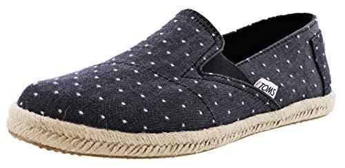 TOMS Women's Redondo Loafer Flat black dot chambray 8.5 Medium US