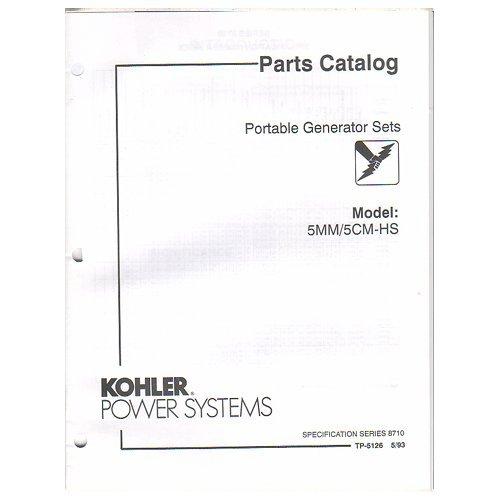 Original 1993 Kohler Power Parts Catalog Portable Generator Sets Models: 5MM
