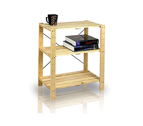 (Office Home Furniture Premium Pine Solid Wood 3-Tier)