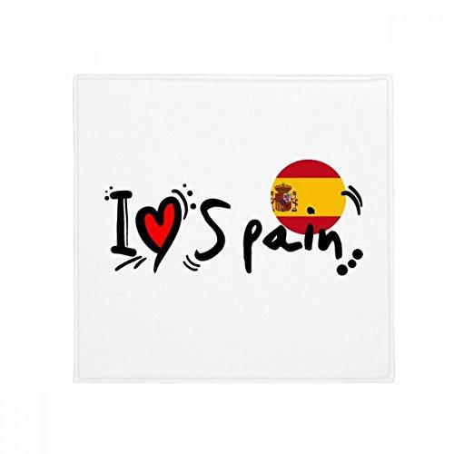 I Love Spain Word Flag Love Heart Illustration Anti-slip Floor Pet Mat Square Bathroom Living Room Kitchen Door 60/50cm Gift by DIYthinker