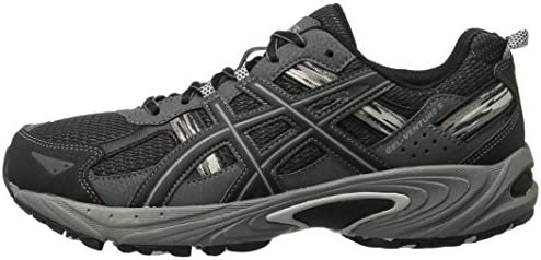 41d3aCbh6bL. AC ASICS Men's GEL Venture 5 Running Shoe    The GEL-Venture 5 provides great fit and everyday comfort, with Rearfoot GEL Cushioning and a rugged outsole ideal for a variety of terrains. ImportedRubber soleOutdoor-ready runner with mesh and brushstroke-patterned underlaysRearfoot GEL cushioningRemovable sockliner accommodates medical orthoticsTrail-specific outsole with reversed traction lugsAHAR outsole rubber in critical high-wear areas