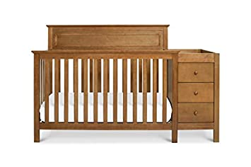 DaVinci Autumn 4-in-1 Crib and Changer Combo, Chestnut