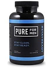 Pure for Men - The Original Vegan Cleanliness Fibre Supplement, 120 Capsules - Proven Proprietary Formula