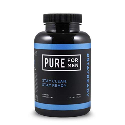 Pure for Men – The Original Vegan Cleanliness Fiber Supplement – Proven Proprietary Formula (120 Capsules with Aloe)