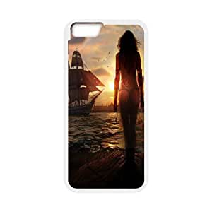 Ship Series, IPhone 6 Plus Case, Ships Waiting to Sail out Case for IPhone 6 Plus [White]