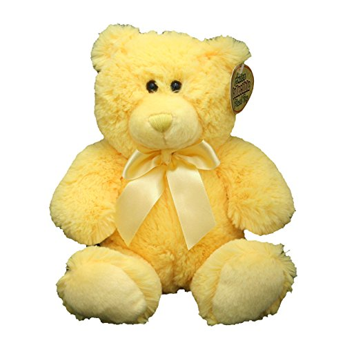 Anico Plush Teddy Bear, Stuffed Animal, Bright Yellow, 8 Inches (Yellow Soft Bear)