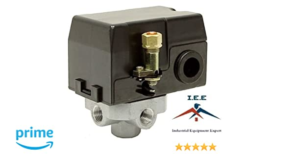 Amazon.com: 412024-E Air Compressor Pressure Switch Replacement 135 PSI MAC2400 MAC5200 AC700: Home Improvement