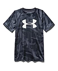 Under Armour Boys' Novelty Big Logo T-Shirt, Steel (035), Youth X-Small