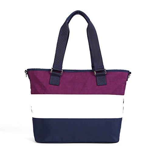 Bolsos de la momia, bolsos de compras de la manera, golpearon el bolso de la momia del color, bolso femenino del hombro, bolso de compras ( Color : Pink ) Purple