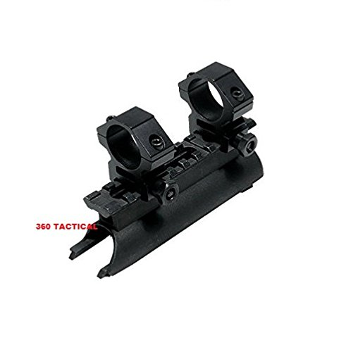 SKS Rifle See Through Receiver Cover Replacement High Profile Tactical Scope Weaver Picatinny Rail Mount With 1