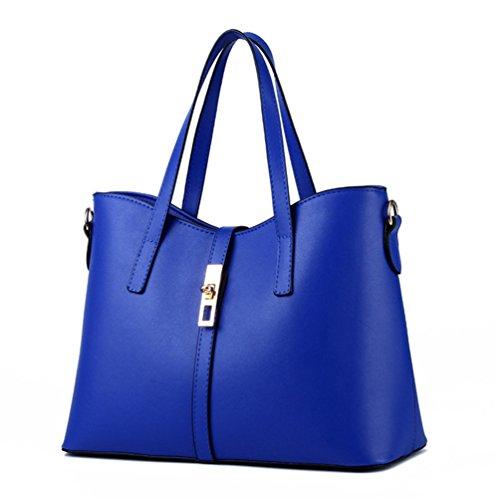 Y Capacidad Mujeres Simple Elegante Cielo La Grande Superior Azul De Bolso Las Beginning Auspicious C8tq44
