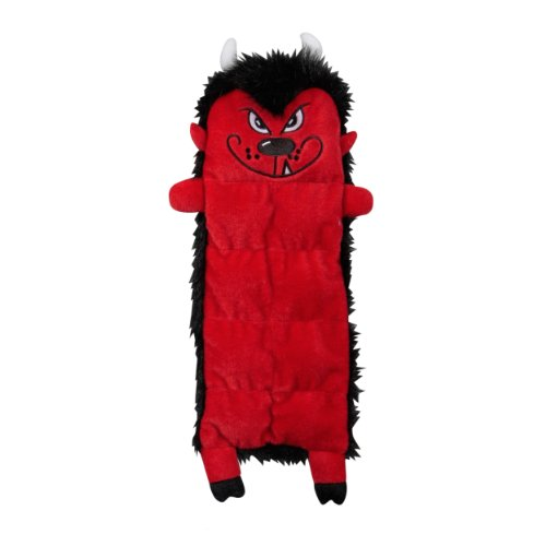 Outward Hound Kyjen  2556 Halloween Squeaker Mat Devil 8 Squeaker Plush Squeak Toy Dog Toy, Medium, Red Kyjen Plush Squeak Mat