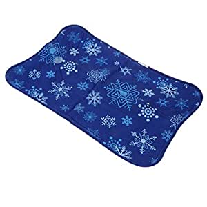 Baoblaze Cooling Pillow for Sleeping & Chair, Update Cold Gel Pillow Ice Pillow for Summer, Water Filling, Gel Pad Seat Cushion for Home, Office - Dark Blue, 55 x 35CM