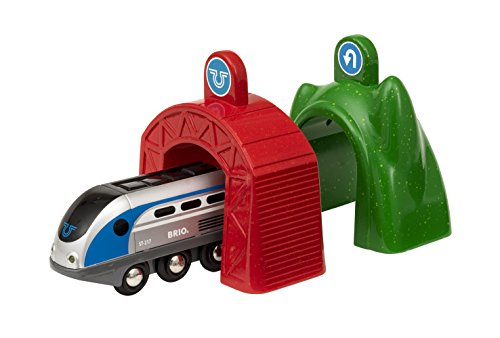 (Brio World Smart Tech - 33834 Smart Engine with Action Tunnels | 3 Piece Train Toy with Accessories for Kids Ages 3 and Up)