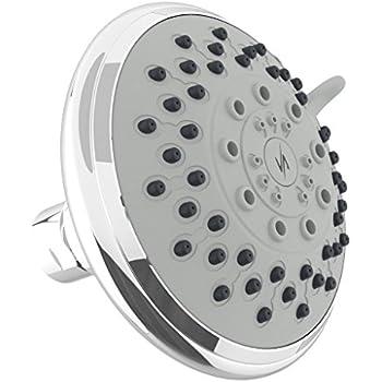 Vida Alegria 5-Inch Spashower 5+ High Pressure 2.5GPM Shower Head 5 Sprays + Water-Saver (Chrome)