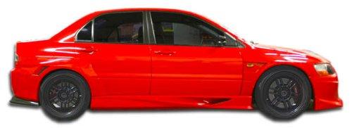 - Duraflex ED-OPS-121 VT-X Wide Body Side Skirts Rocker Panels - 2 Piece Body Kit - Compatible For Mitsubishi Evolution 2003-2006