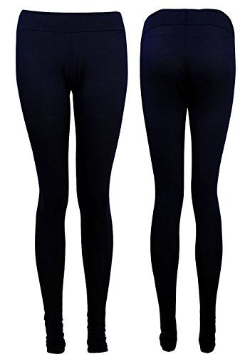 Cexi Couture Mujer Dama Niñas elástico Chándal Pom Pom Top Leggings traje azul marino