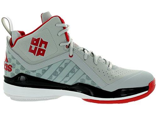 Scarpa Da Basket Adidas Mens D Howard 5 Chiara Onix / Running White / Light Scarlet