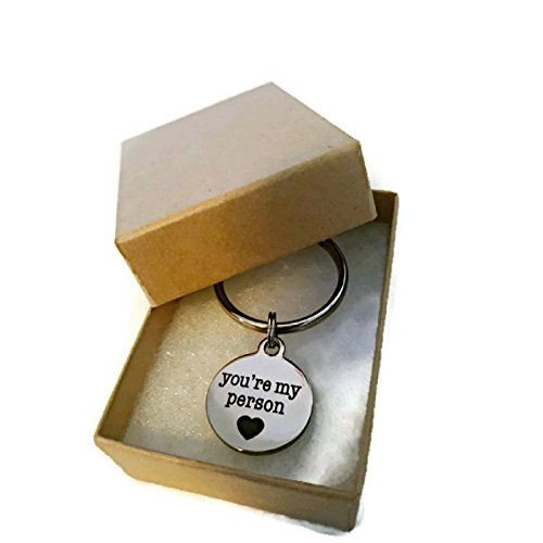 Moonstone Creations You're My Person Key Chain, for Your Person - Special Girlfriend Gifts