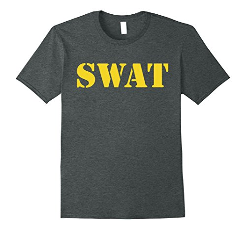 Mens SWAT Team Halloween Costume T Shirt Small Dark (Swat Team Halloween Costumes)