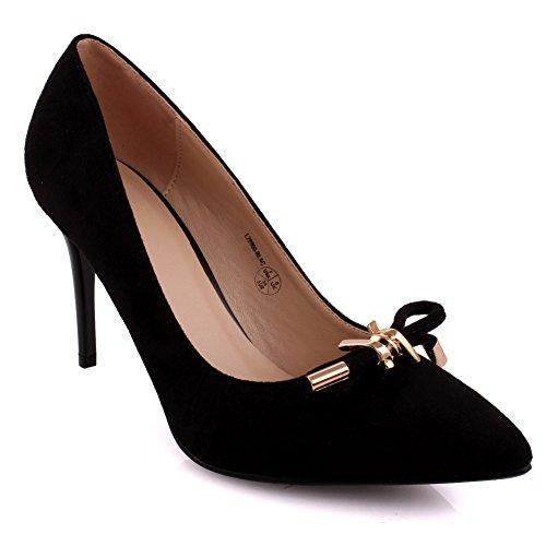 Sandals Pointed Negro Mujeres Carnaval High 3 Prom 8 Unze Low Zapatos toe Tacones Unido Heel Mediados Reino Evening De Reunirse 'brian' Partido Tamaño Corte Oficina ZdqEwxqC