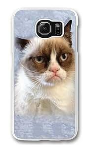 Children's Grumpy Cat in Blue Custom Samsung Galaxy S6/Samsung S6 Case Cover Polycarbonate Transparent