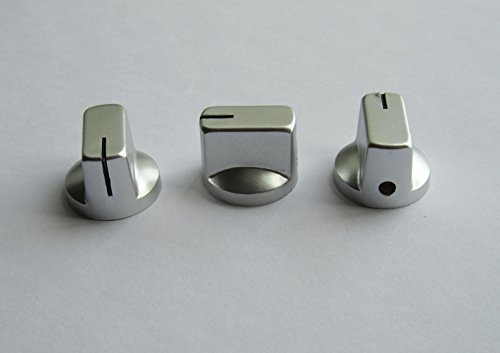 Guitar Effects Pedal Knobs AMP Amplifier Knob Davies Style 1/4'', Silver 10 Pcs by Guitar Amplifier Knobs ok