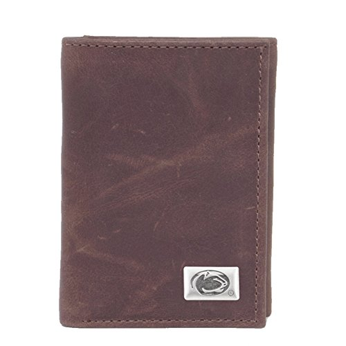 Eagles Wings NCAA Penn State Nittany Lions Men's Tri Fold Wallet, One Size, Brown