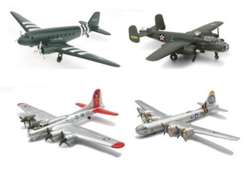 WWII BOMBERS TRANSPORTER PLANES KITS 4PCS ASSORTMENT LOCKHEED 20107S BY NEWRAY
