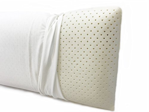 Talalay Latex Layer - OrganicTextiles Talalay Latex Pillow, Extra Soft, with Organic Pillow Cover for Extended Durability, (Queen, Extra Soft)