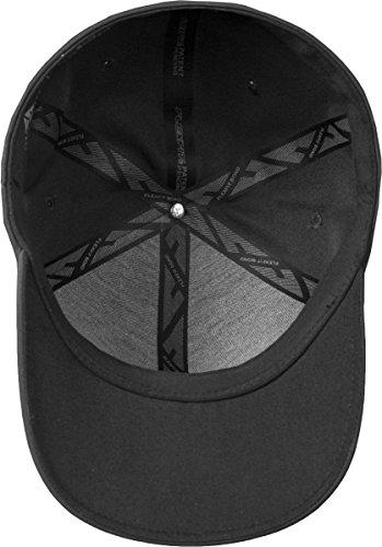 Impermeable Gorra Unisex poliéster sin de de para Negro y Mujeres Hombres Delta Béisbol Gorra Costuras Flexifit rwaA6qBr4