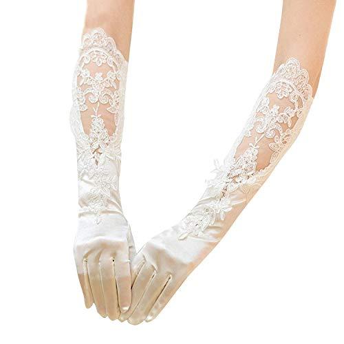 RIKOUZY (리코우제와이) 웨딩 장갑 신부 장갑 네일 장갑 긴 스트레치 신부 장갑 신부 용품