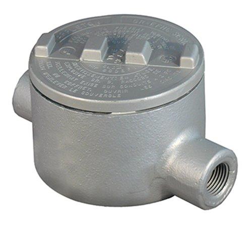 Appleton GRC125-A Conduit Outlet Box, Hazardous Location, C, Aluminum, 1-1/4'' Hub