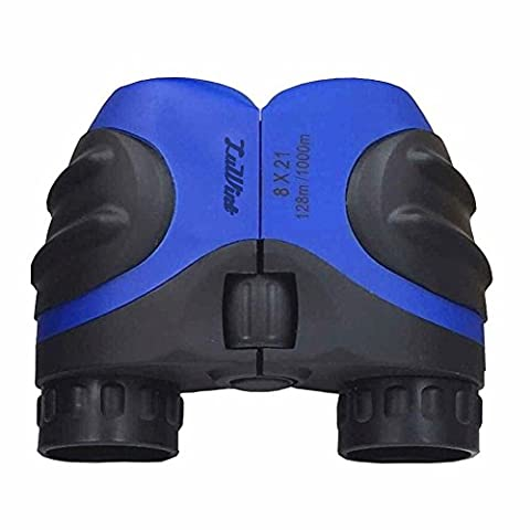 Luwint 8 X 21 Blue Kids Binoculars for Bird Watching, Watching Wildlife or Scenery, Game, Mini Compact and Image Stabilized