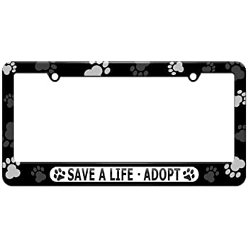 Life/'s better with a pet cat dog design your own license plate frame tag holder