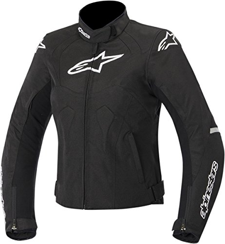 ALPINESTARS Alpinestars Women's Stella Jaws Waterproof Textile Jacket (MEDIUM) (BLACK/WHITE)