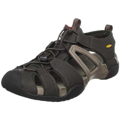 KEEN Men's Escape H2 Sandal,Black Olive/Brindle,14 M US