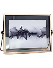 Photo Frame Geometric Glass 10 Inch Desktop Horizontal Decoration Nordic Metal Photo Frame Thin Edge Ins Set Photo Frame 7 inch