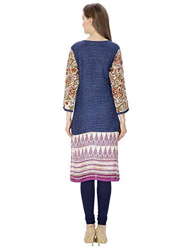 Bollywood-Indian-Designer-Latest-Womens-Printed-Flex-V-Neck-Kurti-Jaipuri-100-Cotton-Kurti-Kurta-Party-Wear-XX-Large-Pink