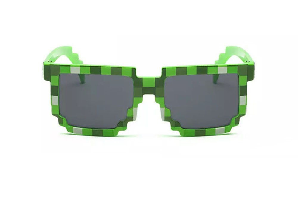Pixel Kids Sunglasses Novelty Retro Gamer Geek Glasses for Boys and Girls Ages 6 by EnderToys