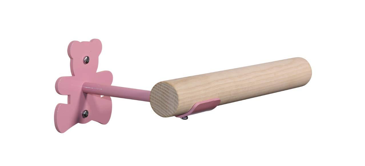 Vita Vibe - 3フィート - 5フィート - ノベルティ(ベア)木製壁取り付けバレエ/フィットネスバレエ/バーシステム マッチする壁フック付き (高さ固定) ティール 5 FT