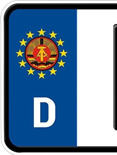 Dsf 2 Bike Auto Nummerschild Kennzeichen Plakette Ostalgie Ddr Emblem Aufkleber Auto