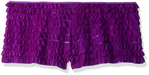 Satin Panty Shapers (Daisy Corsets Women's Size Mesh Ruffle Shorts with Bow Plus, Purple 5X)