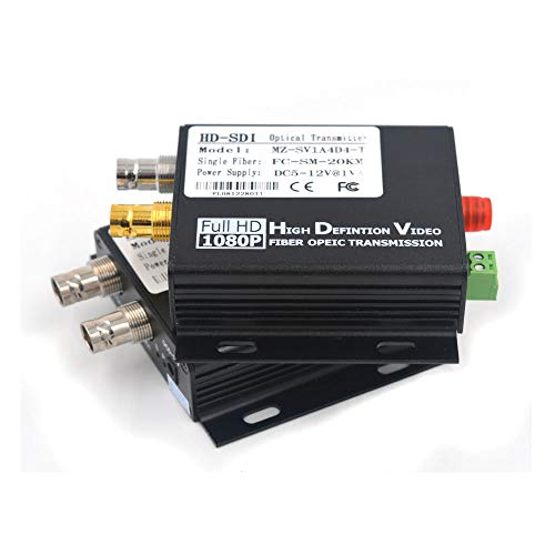 (Guantai SDI Converters (Transmitter and Receiver Kit) HD SDI Over Singlemode/Multimode Fiber Optic Up 20Km)