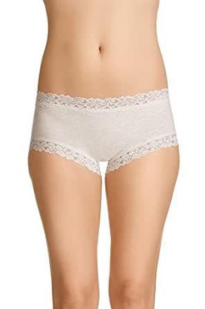 Jockey Women's Underwear Parisienne Cotton Boyleg Brief, Vanilla Marle, 8